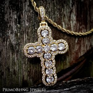 Outlined Cross Necklace